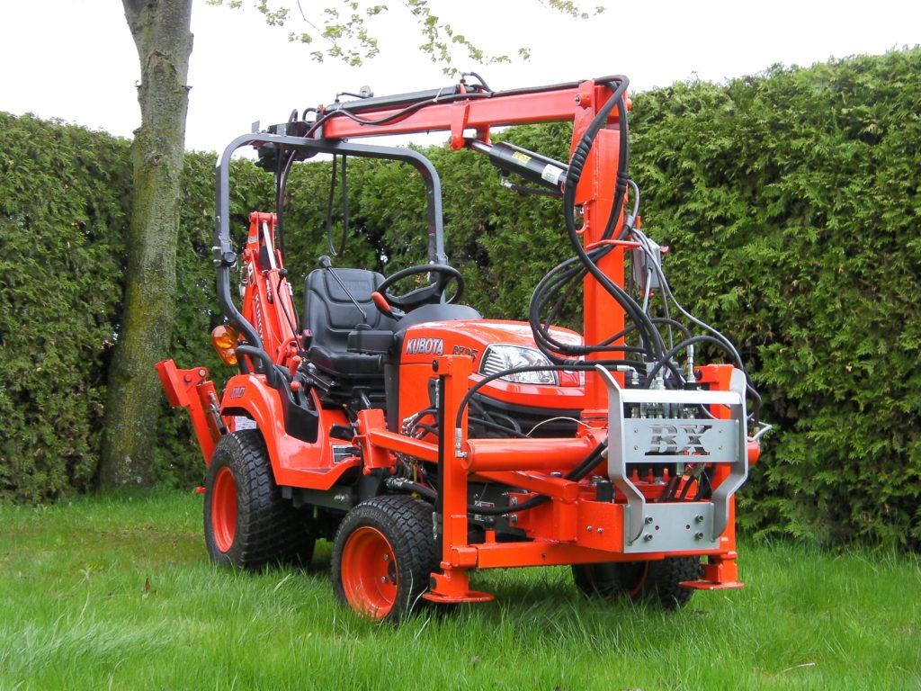 Screw piles Kubota tractor